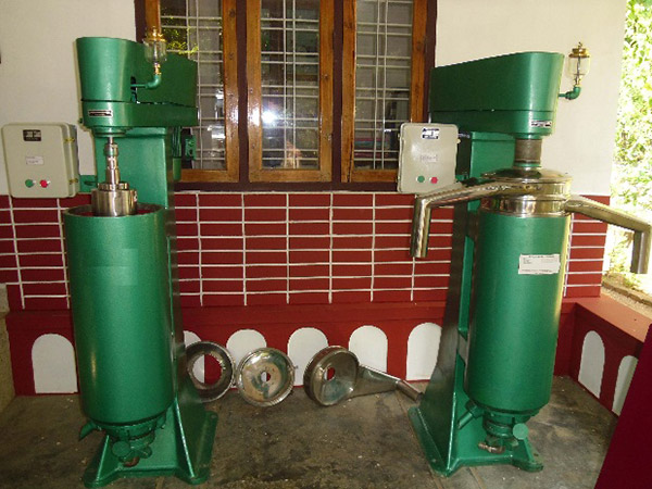 Centrifuge for VCO machinery
