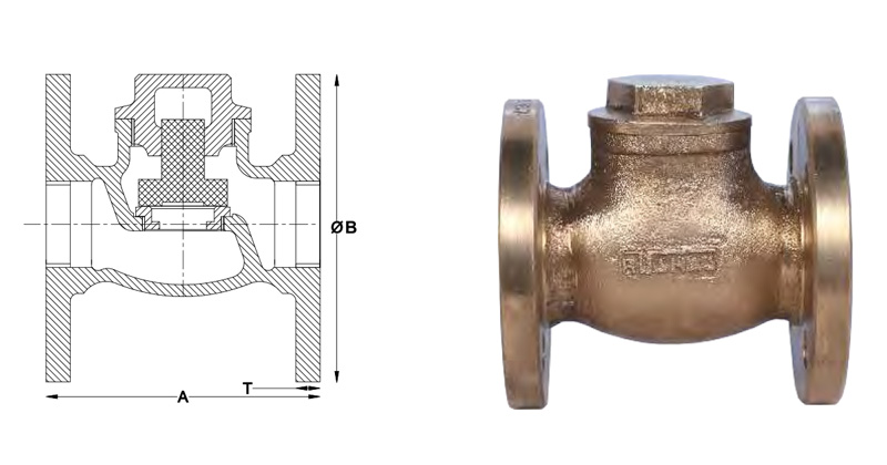 flanged end steam non return valve
